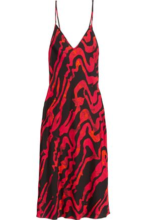 ELLERY Runaway Daughter printed silk-blend midi slip dress