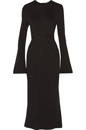 •ELLERY• Ribbed-knit midi dress