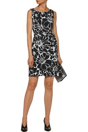 DIANE VON FURSTENBERG Della wrap-effect printed crepe mini dress