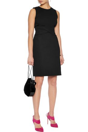DIANE VON FURSTENBERG Paneled ponte mini dress
