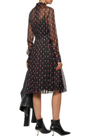 CHRISTOPHER KANE Pleated printed silk-chiffon dress