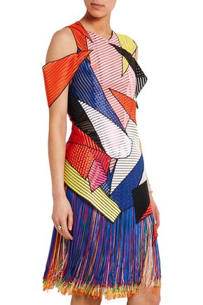 CHRISTOPHER KANE Fringed crocheted dress