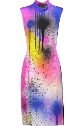 CHRISTOPHER KANE Printed stretch-cady dress