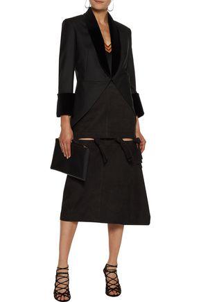 CHRISTOPHER KANE Velvet-trimmed twill blazer
