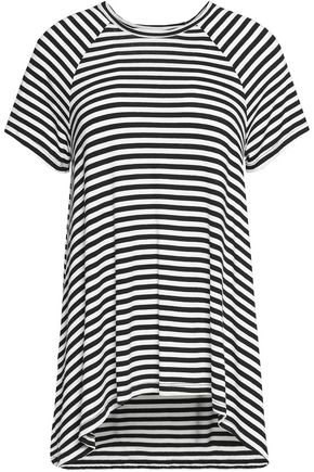 ZIMMERMANN Draped two-tone striped jersey top