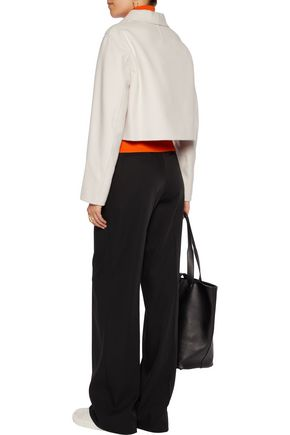 JIL SANDER Cropped wool and cashmere-blend jacket