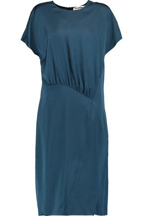 JIL SANDER Ruched satin dress