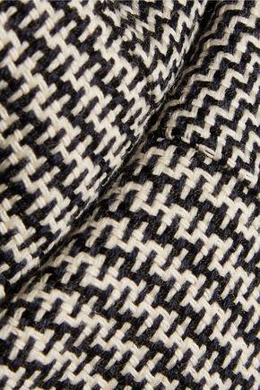 JIL SANDER Woven cotton and wool-blend dress