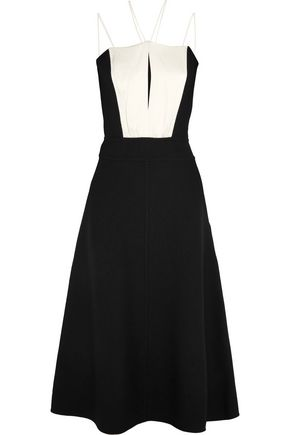 JIL SANDER Wool-blend midi dress