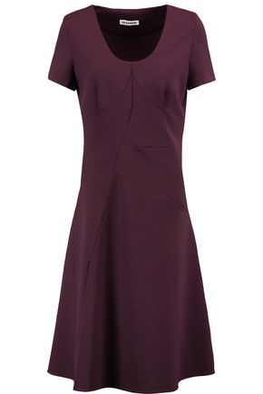 JIL SANDER Wool-blend stretch-knit dress