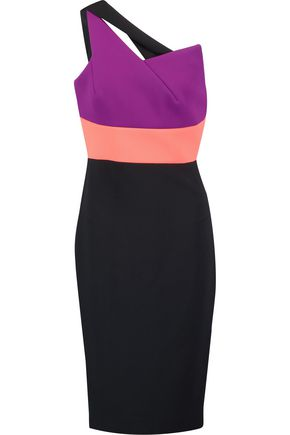 ROLAND MOURET Latymer one-shoulder crepe dress