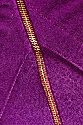 ROLAND MOURET Ingram lace-trimmed paneled crepe dress