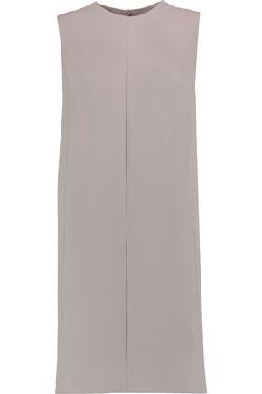 VINCE. Pleated crepe mini dress