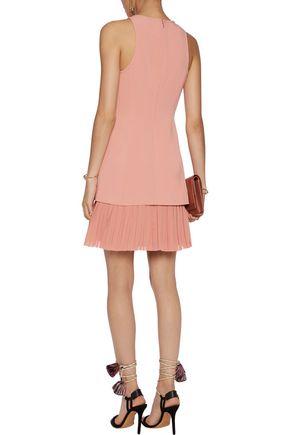 CINQ À SEPT Catriona layered crepe and chiffon mini dress