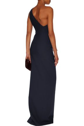 CINQ À SEPT Kosheen one-shoulder stretch-crepe gown