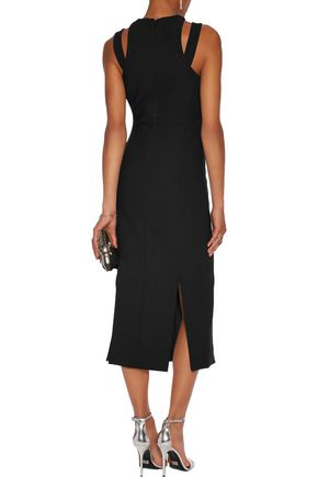 CINQ À SEPT Henriette cutout crepe dress