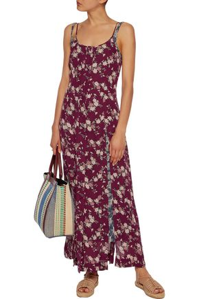CINQ À SEPT Nathalia layered silk maxi dress