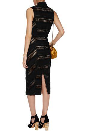 CINQ À SEPT Kora cotton-blend lace midi dress