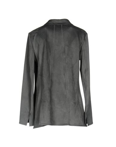 Фото 2 - Женский пиджак  свинцово-серого цвета