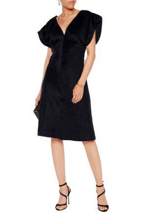 NINA RICCI Alpaca and silk-blend dress
