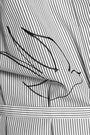 NINA RICCI Embroidered striped cotton dress