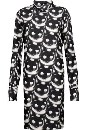 NINA RICCI Printed silk mini dress