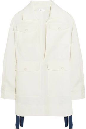 SONIA RYKIEL Oversized linen and ramie-blend jacket