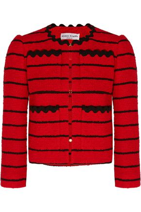SONIA RYKIEL Striped cotton-blend bouclé-tweed jacket