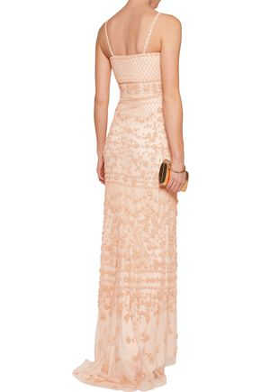 MIKAEL AGHAL Beaded mesh gown