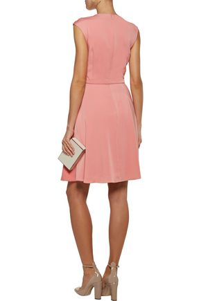 MIKAEL AGHAL Embellished embroidered stretch-ponte dress