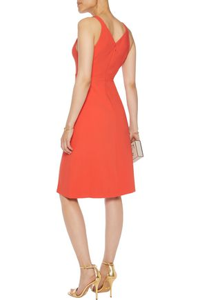 HALSTON HERITAGE Cutout crepe dress