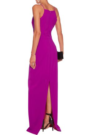 BADGLEY MISCHKA Cutout cady gown