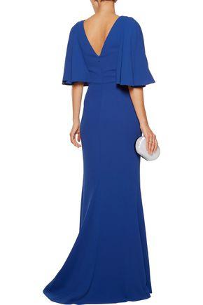 BADGLEY MISCHKA Pebble jacquard gown