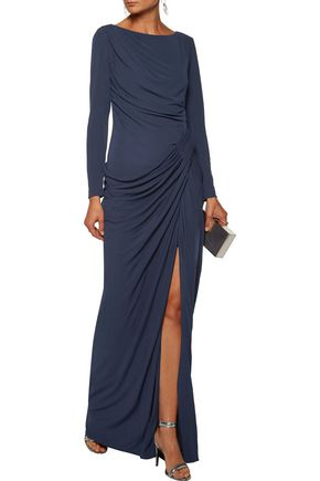 BADGLEY MISCHKA Draped jersey gown