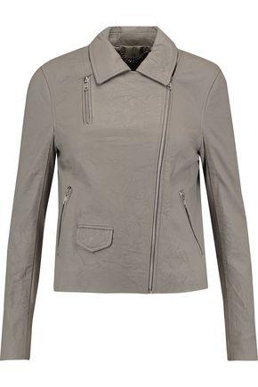 MUUBAA Textured-leather biker jacket