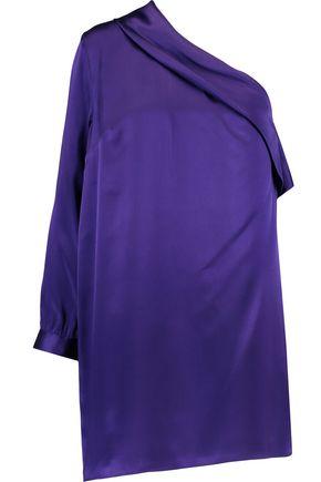 MICHELLE MASON One-shoulder silk-satin mini dress