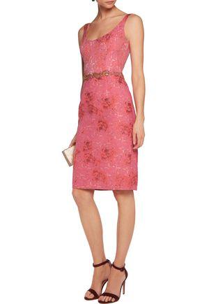 MARCHESA NOTTE Jacquard embellished dress