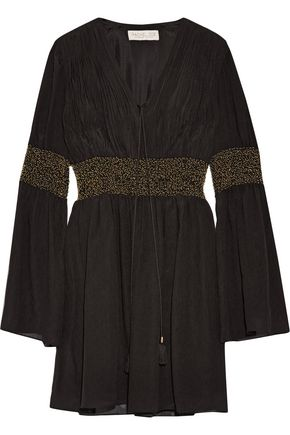 RACHEL ZOE Laurel embellished crinkled silk-chiffon mini dress