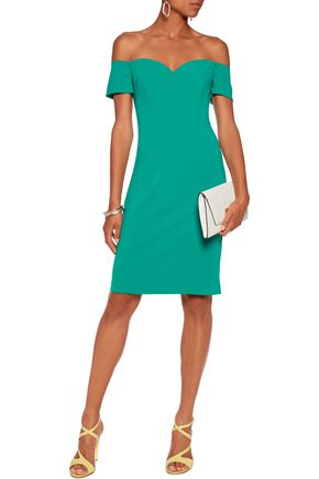 BADGLEY MISCHKA Off-the-shoulder cady dress