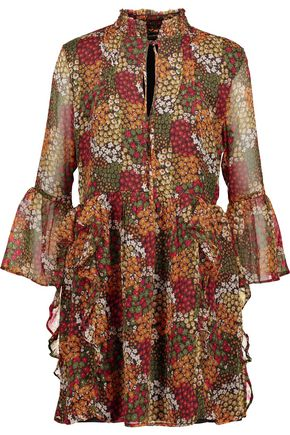 W118 by WALTER BAKER Alonzo ruffled floral-print georgette mini dress