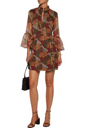 WALTER BAKER Alonzo ruffled floral-print georgette mini dress