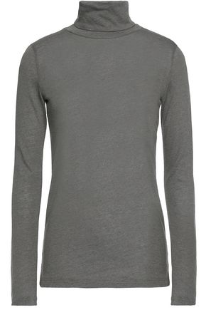 MAJESTIC FILATURES Cotton and cashmere-blend turtleneck sweater