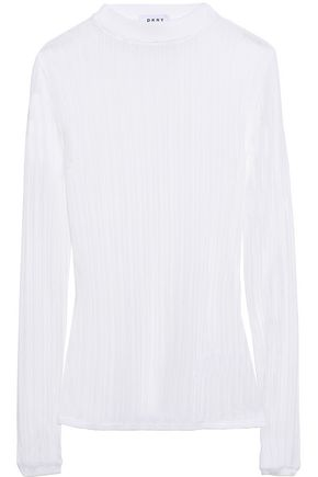 DKNY Ribbed-knit top