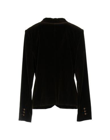 Фото 2 - Женский пиджак  темно-коричневого цвета