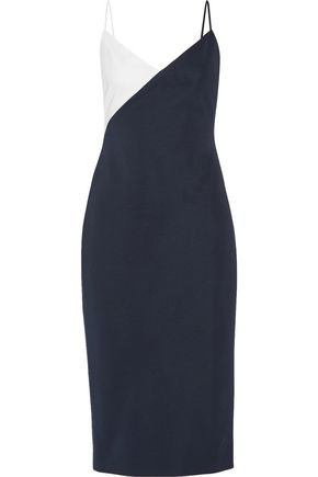 CUSHNIE ET OCHS Leah color-block stretch-knit dress