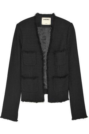 L'AGENCE Jules frayed bouclé jacket