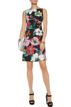 MILLY Printed cotton-blend dress