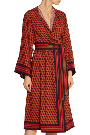 MICHAEL KORS COLLECTION Printed wrap-effect silk dress