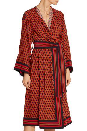 MICHAEL KORS COLLECTION Printed wrap-effect silk dress