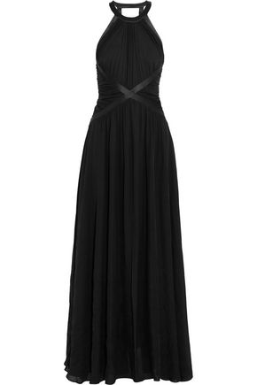 L'AGENCE Marvella ruched silk maxi dress